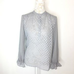 NWT French Connection Blouse Bell Sleeve Top 312